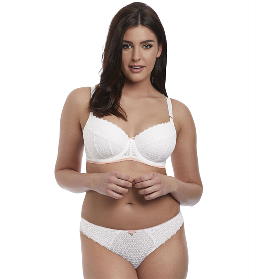 Daisy Lace Half cup (White) by Freya