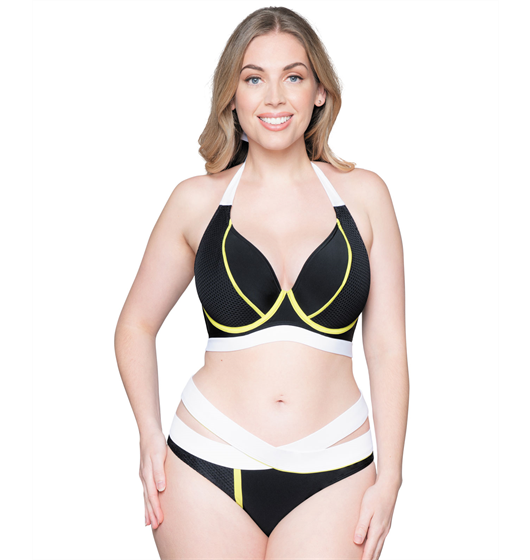 Graphic Beach Halter Bikini by Curvy Kate