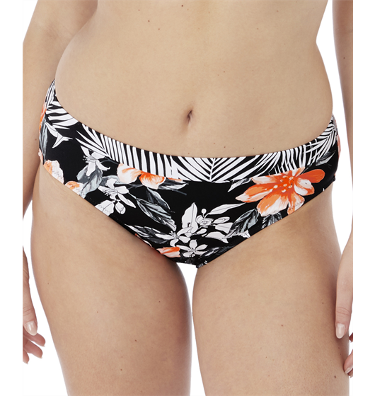 Port Maria Mid Rise Brief (Black) by Fantasie
